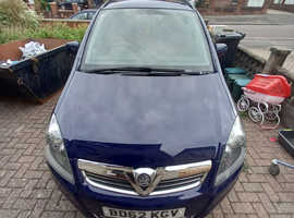 Vauxhall Zafira, 2013 (62) Blue MPV, Manual Petrol, 99,504 miles