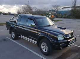 Mitsubishi L200, 2005 (05) Black 4x4, Manual Diesel, 78,000 miles