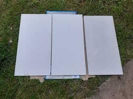 Pale grey textured  Porcelain tiles