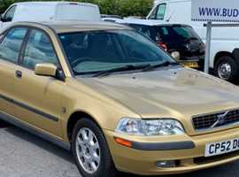 Volvo S/V40 SERIES, 2002 (52) Gold Saloon, Manual Petrol, 91,629 miles