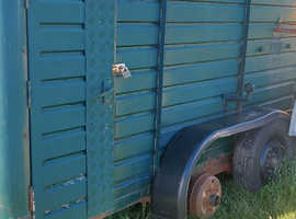 Old Rice horse trailer