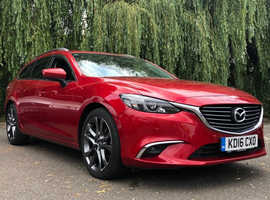 Mazda MAZDA 6, 2016 (16) Red Estate, Manual Diesel, 27,800 miles