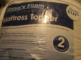 Memory Foam Mattress Topper, Super King Size (new and unused)