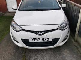 Hyundai i20, 2013 (13) White Hatchback, Manual Petrol, 69,368 miles