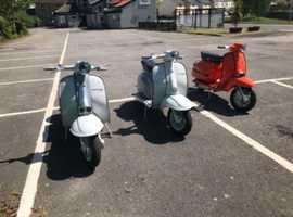 Three immaculate lambrettas