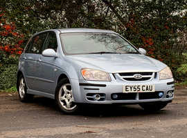 Kia Cerato 1.5 LX CRDi, 2005 (55) Blue Hatchback, Manual Diesel, 108,774 miles, NEW 12 MONTH MOT