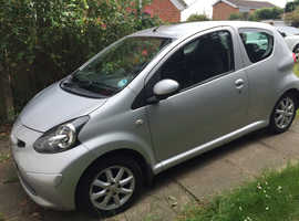 Toyota Aygo, 2008 (58) Silver Hatchback, Manual Petrol, 70,380 miles