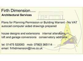 House Plans for Planning Permission or Building Warrant   No VAT