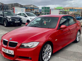 BMW 3 Series, 2007 (07) Red Saloon, Automatic Petrol, 125,258 miles