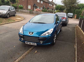 Peugeot 307, 2006 (56) Blue Coupe, Manual Petrol, 105.000 miles
