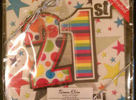 15 'Simon Elvin' Handcrafted 21st Birthday Party Invitation Cards (new & sealed)