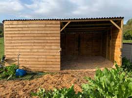 Stunning field shelter