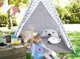COSTWAY Kid's Teepee Tent With Floor Mat HW65996