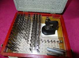 Watchmaker`s & Jeweller`s Staking Tool with Box of Favorite Accessories