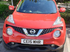 Nissan Juke, 2015 (15) Red Hatchback, Manual Petrol, 26,600 miles
