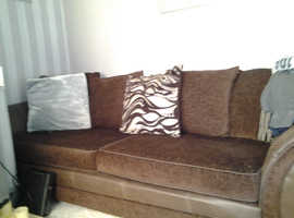 Large dfs brown sofa