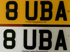 Private Car Number Plate 8UBA  .