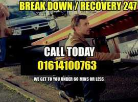Towing Recovery Service in Manchester 24hrs 7 days A week
