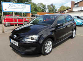 Volkswagen Polo, 2011 (11) Black Hatchback, Manual Petrol, 52,000 miles