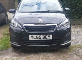 Peugeot 108, 2016 (65) Black Hatchback, Manual Petrol, 48,150 miles