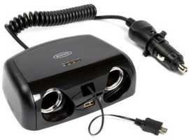 Ring Automotive RMS15 2-Way Multisocket with Micro US and USB, 12 V, 2 A Cost £24-99 BARGAIN £15 ONO