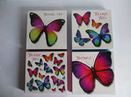 SIMON ELVIN 8 THANK YOU NOTECARDS 4 DESIGNS ONLY £2.95 EACH