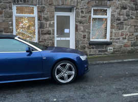 Audi A5, 2013 (13) Blue Convertible, Manual Diesel, 122,756 miles