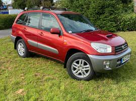 Toyota Rav4, 2003 (03) Red Estate, Manual Diesel, 93,020 miles