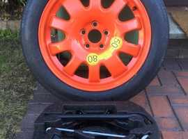 Genuine Jaguar XF Space saver spare wheel