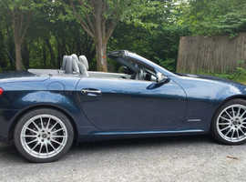 Mercedes Slk, 2005 (05) Blue Convertible, Automatic Petrol, 78,346 miles
