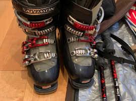 Ski and ski boots