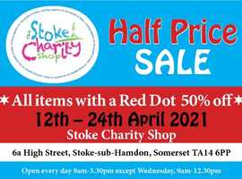 Stoke-sub-Hamdon Charity Shop Spring Sale TA14 6PP