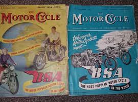 Motorcycle Magazines 1951 x 2