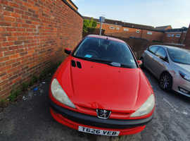 Peugeot 206, 1999 (T) Red Hatchback, Manual Petrol, 90,000 miles
