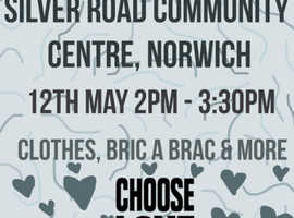 JUMBLE SALE Silver Road, Norwich, Community Centre. Saturday 12th May 2pm - 3.30pm.