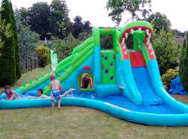 Large DUPLAY HAPPY HOP CROCODILE DOUBLE WATER SLIDE