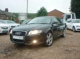 Audi A4, 2007 (57) Black Saloon, Manual Diesel, 154,000 miles