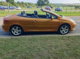 Peugeot 307, 2006 (06) Orange Coupe, Manual Diesel, 104,230 miles
