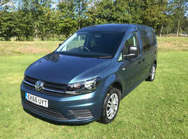 2016 66 VW VOLKSWAGEN CADDY MAXI KOMBI CREW 2.0 150PS AUTO DIESEL BLUE LWB - NO VAT TO PAY