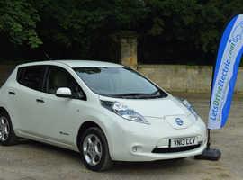 Nissan Leaf, 2013 (13) Electric Car, white, hatchback, Automatic, 33000 miles
