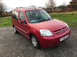 Citroen Berlingo, 2006 (06) Red Estate, Manual Diesel, 72,000 miles
