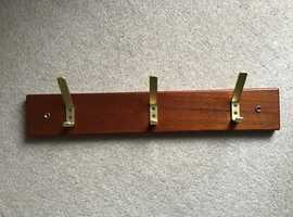 Coat / Handbag Rack - Varnished hardwood