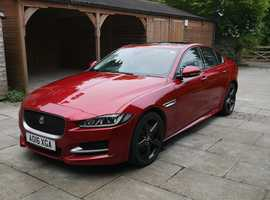 Jaguar XE, 2016 (16) Red Saloon, Manual Diesel, 45,000 miles