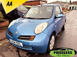 Nissan Micra, 2004 (04) Blue Hatchback, Manual Petrol, 110,495 miles