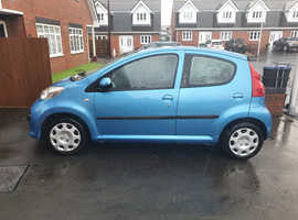 Peugeot 107, 2008 (58) Blue Hatchback, Manual Petrol, 100,000 miles