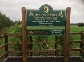 Livery available at Five Oak Stables Linton, DIY and part assisted