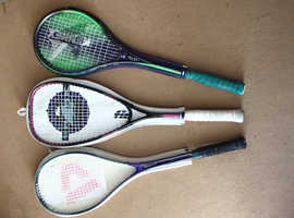 Squash Rackets x3 (In Used Conditions)