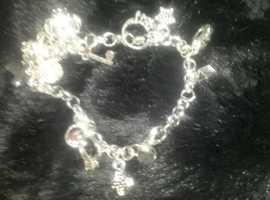 silver charm bracelet  (quite heavy)