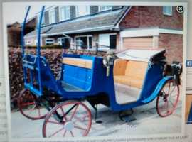 FOUR WHEELER HORSE CARRIAGE.UP TO 15/2.IDEAL WEDDINGS ETC.