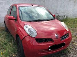 Nissan Micra, 2004 (53) Red Hatchback, Manual Diesel, 90,000 miles